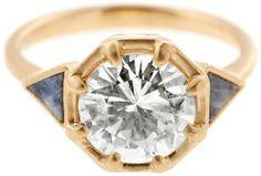Custom Starburst Allium Ring with Rough Sapphires Bridal Jewelry, Gemstone Jewelry, Jewelry Gifts, Gold Jewelry, Jewellery, Tiny Rings, Thing 1, Custom Jewelry Design, Designer Jewelry