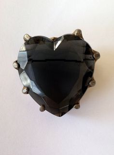 Heart-shaped Victorian Mourning Pin