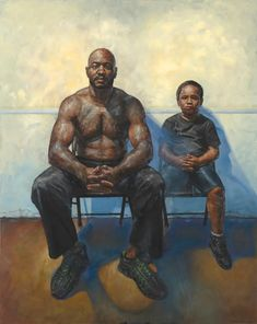 Painting People, Figure Painting, Oil Painting On Canvas, Blues Artists, A Level Art, Step By Step Painting, African American Art, Father And Son, Painting Inspiration