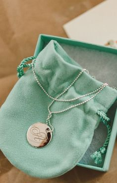 Monogram Tiffany necklace bridesmaid gift—such a thoughtful idea! {Photo by Jeff Loves Jessica}