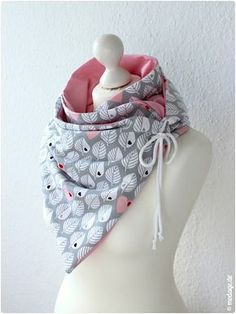 Scarf with Oese_Diy Leni Pepunkt_modage 05 (Cool Cr . Scarf with Oese_Diy Leni Pepunkt_modage 05 (Cool Crafts Sewing) Diy Clothing, Sewing Clothes, Clothing Patterns, Baby Knitting Patterns, Sewing Patterns, Crochet Patterns, Sewing Hacks, Sewing Crafts, Fabric Crafts