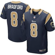 Sam Bradford Jersey Youth Nike St. Louis Rams  Elite Team Color Navy Blue Jersey | Size S, M,L, 2X, 3X, 4X, 5X. At Official St. Louis Rams Shop, you can find one of the largest selections online of Youth Nike St. Louis Rams  Sam Bradford Elite Team Color Navy Blue Jersey licensed by the NFL.  $79.99