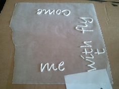 Puff Paint on Canvas...so neat. Print off saying from your computer. Put the paper underneath wax paper so you can see the writing. Use puff paint to trace the wording...let dry for 3 hours and peel off the wax paper. Glue or mod podge onto canvas.