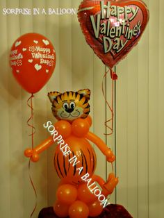 tiger with balloons BY SORPRISE IN A BALLOON http://surpriseinaballoon.vpweb.com/