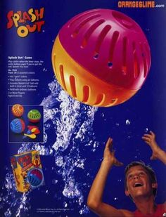 Trying not get splashed when playing with a Splash Out.