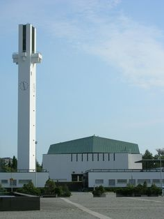 "Lakeuden Ristin kirkko : ""Cross of the Plains"" church, Seinäjoki Finland Cathedral Church, Alvar Aalto, Outdoor Events, Modernism, Willis Tower, High Quality Images, Finland, Architecture Design, Centre"