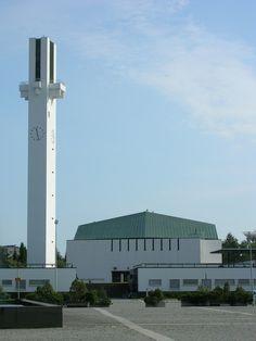 """Lakeuden Ristin kirkko : """"Cross of the Plains"""" church, Seinäjoki Finland (1957-60)   Alvar Aalto"""