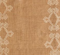Aswan Tobacco  hand printed on 100% Natural Linen