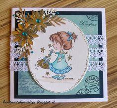 Handmade by Marleen: Daisy met kerstklok