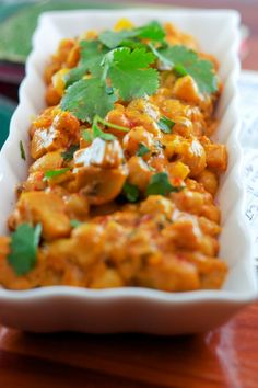 healthy chickpea curry.