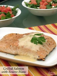 Grilled Salmon with Beurre Blanc | Curious Cuisiniere
