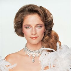 Charlotte Rampling en diamants Bulgari, photo vintage