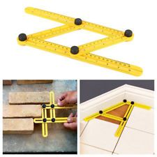 Four-Sided Ruler Angle-izer Mechanism Measuring Slide Template Tool Instruments