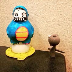 Awesome #character made in Morphi by @jabcole. His first 3d printed model (on the right). Bravo!!