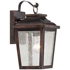 "Irvington Manor 12"" High Bronze Outdoor Wall Light - #2N105 | LampsPlus.com"