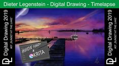 "Dieter Legenstein – Digital Painting 2019 / Picture ""Sunset At The Lake"" Digital Painting - Timelap Video Digitalmalerei - Zeitraffer * Hardware: Huion Corel Painter, Cool Books, Song One, Music Publishing, Painting & Drawing, Storytelling, Photoshop, Sunset, Digital"