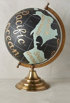 handpainted wanderlust globe #anthrofave  http://rstyle.me/n/udzhapdpe