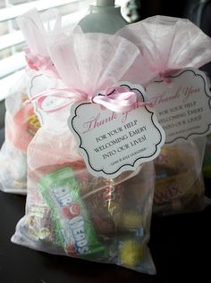L+K+W+E: Wordless Wednesday: Goodie Bags for the Nurses -- Check!