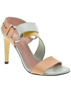 From Piperlime, a Stuart Weitzman sandal in Petal color.  I think it's gorge.