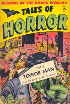 Comic Book Cover For Tales Of Horror #1 - 1952
