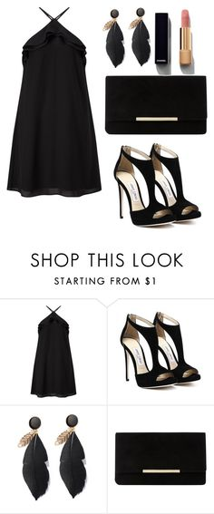 """""""total black"""" by tissi97 on Polyvore featuring moda, Miss Selfridge, Dune e Chanel"""