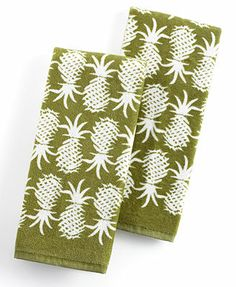 Tommy Bahama Kitchen Towels, Set of 2 - Pineapple Pop (Web ID 793656) #domesticdiva
