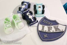 Formula cars, baby shoes and IFK logo