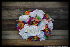 Allaura Wedding Arts - Rainbow Bouquets