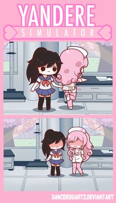 Yandere Comic - Get Keys by DancerQuartz on DeviantArt // I know that feeling so well... When she turns around and your heart jumps out of your chest