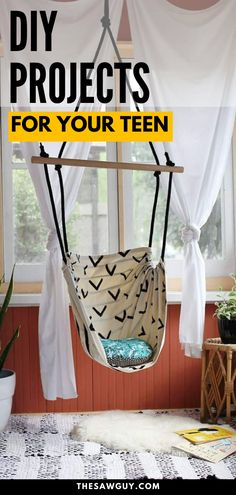 Is your teenager bored with their room decor? Need a few DIY projects that your teen will absolutely love? Check out these DIY projects perfect for your teenager! From bedroom decor for teens to simple DIY projects, this complete guide to DIY project for teens will inspire and motivate the DIYer in everyone! Woodworking Projects For Kids, Diy Projects For Kids, Diy Home Decor Projects, Arts And Crafts Projects, Diy Woodworking, Project Ideas, Simple Diy, Easy Diy, Handmade Wooden Toys