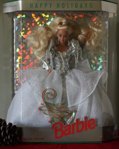 Vintage 1992 Holiday Barbie Doll Limited Edition NRFB by PaintedOnPlaques, $93 after discount