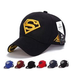 8 colors adjustable Hip Hop superman Snapback Baseball Caps sports caps Women casquette Men Casual headware golf hat