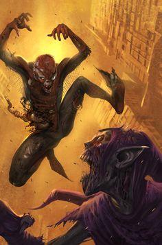 Spider-Zombie vs ZOmbie Goblin