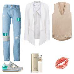 Look des Tages - Patched boyfriend jeans