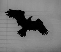 Raven Silhouette by BessieCow.deviantart.com on @DeviantArt