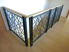 522 Industries: First Impressions Steel Railing Design, Modern Stair Railing, Staircase Handrail, Modern Stairs, Staircase Design, Railings, Balcony Grill Design, Balcony Railing Design, Indoor Railing
