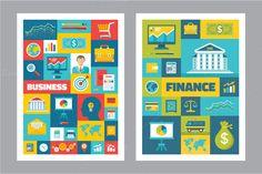 Business & Finance - Flat Posters by serkorkin on Creative Market