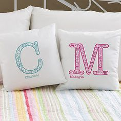Personalized Kids Pillows - Name & Monogram