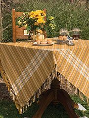 Honey Plaid Tablecloth