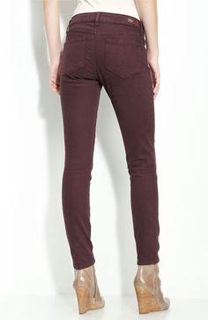Paige Denim 'Skyline' Stretch Denim Ankle Jeans (Black Cherry Wash) | Nordstrom - StyleSays