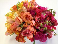 Ombre floral arrangement from Isari Flower Studio