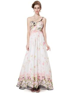 Shop White Floral One Shoulder Sweetheart Ruched Maxi Dress from choies.com .Free shipping Worldwide.$63.89