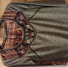 NWOT Miss Me 3/4 Length Shirt Brand new never worn. It is super cute. Size small Miss Me Tops Blouses