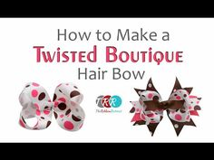 Learn how to make bows like the Twisted Boutique Bow, Pinwheel Bow, Spikes, and Surround Loops, and how to layer them all in our tutorial. Ribbon Hair Bows, Diy Hair Bows, Bow Hair Clips, Frozen Hair Bows, Ribbon Retreat, Hair Bow Tutorial, Little Girl Gifts, Boutique Hair Bows, Making Hair Bows
