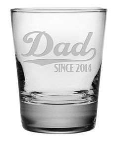 'Dad Since' Personalized Double Old-Fashioned Glass - Set of Four