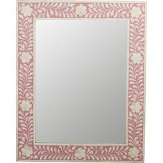 This Brock Rectangle Bone Inlay Accent Mirror is the prettiest of them all. The delicate floral inlay around all four sides adds blushing beauty with white bone mosaic against a pink background. Bedroom Built Ins, Bunk Beds Built In, Master Bedroom, Diy Window Shades, Motif Photo, Transitional Home Decor, Transitional Kitchen, Young House Love, Shed Storage