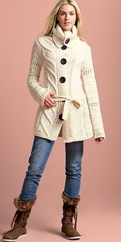 Long cardigan sweater from VENUS women's swimwear and sexy clothing. Order Long cardigan sweater for women from the online catalog or Knit Jacket, Knit Dress, Sweater Cardigan, Comfy Sweater, Sweater Boots, Sweater Dresses, Long White Cardigan, Knit Fashion, Long Sweaters