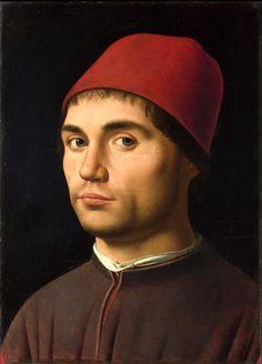 TITOLO: Ritratto d'uomo AUTORE:Antonello da Messina DATA: 1475-1476 TECNICA: Olio su tavola DIMENSIONI: 25,5 cm × 35,5 cm  UBICAZIONE: National Gallery, Londra