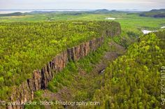 Aerial photo Canyon at Ouimet Canyon Provincial Park Ontario, Canada. All About Canada, Aerial View, Thunder, Ontario, Natural Beauty, Places To Go, Fishing, Outdoors, Camping