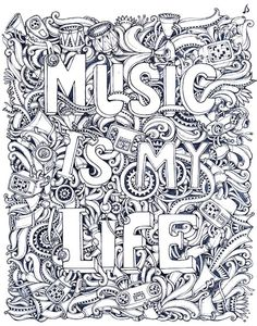 Music Coloring pages: Great Title Pages for the start of the school year… - Eden Cook - Free Adult Coloring Pages, Colouring Pages, Printable Coloring Pages, Coloring Sheets, Coloring Books, Doodles, Anti Stress, Art Therapy, Image Search